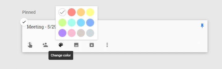 Google Keep - color coding