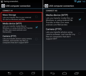 Android - USB mass storage