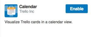 Enable Calendar Power-Up in Trello