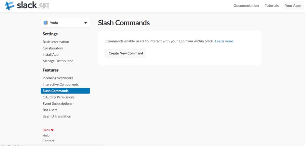 Slack - Create new command