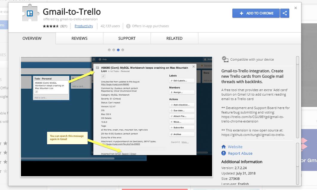 Gmail to Trello